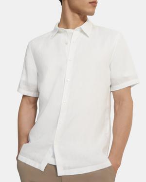 Short-Sleeve Irving Shirt in Summer Linen