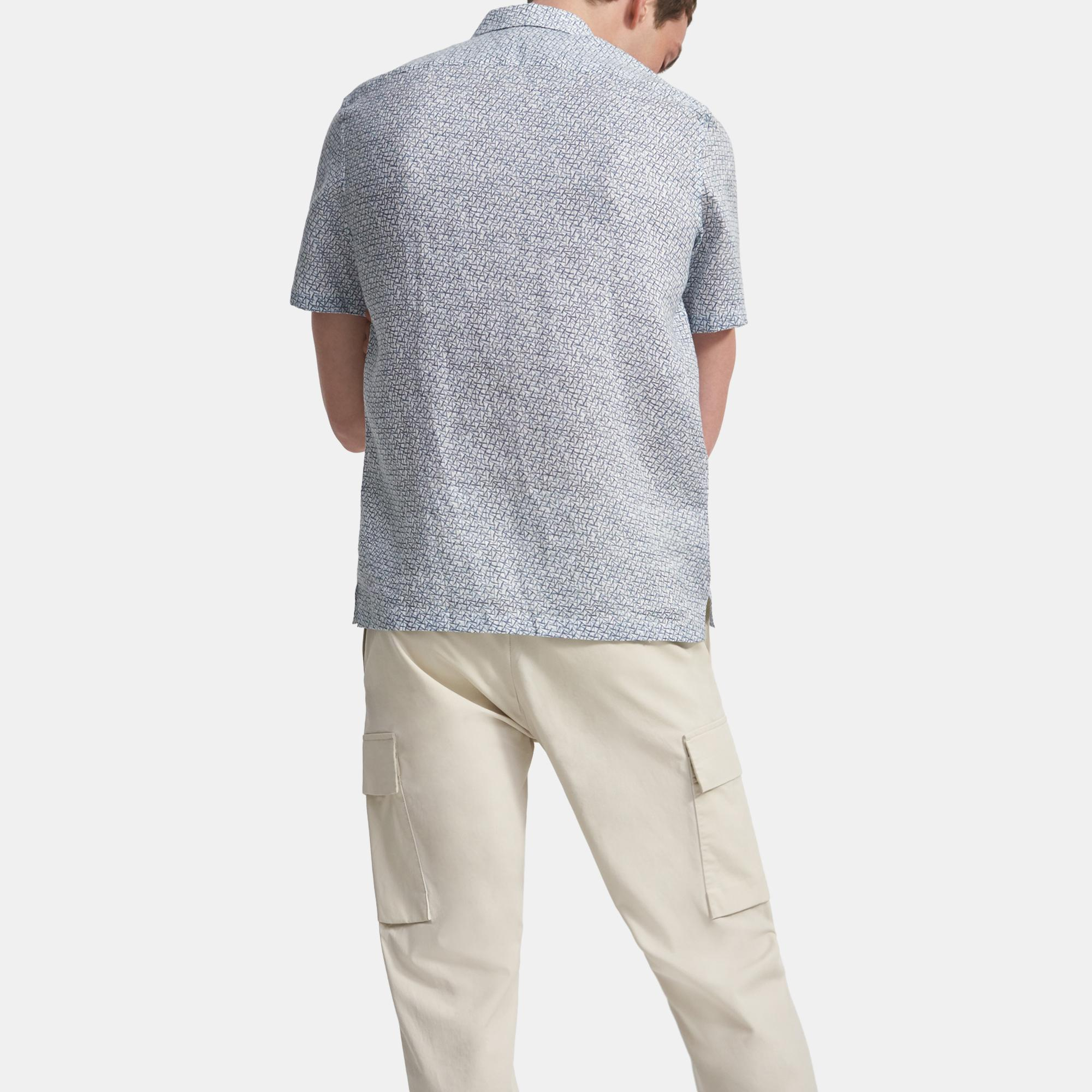Irving Short-Sleeve Shirt in Spur Linen   Theory