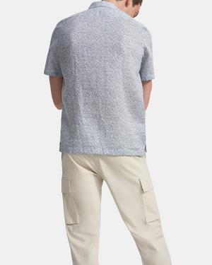 Irving Short-Sleeve Shirt in Spur Linen