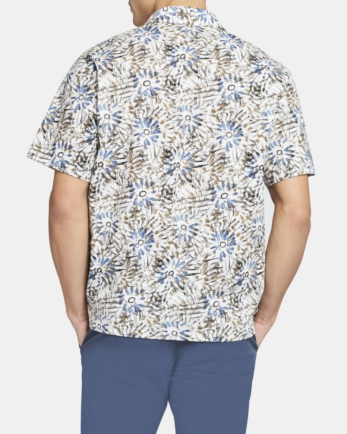 Short-Sleeve Shirt in Sketched Floral Print