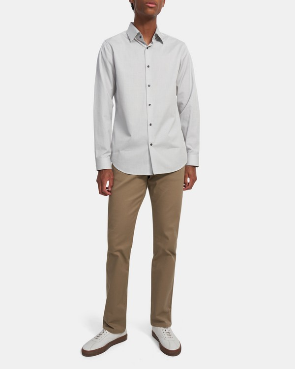 Cedrick Shirt in Grid Cotton