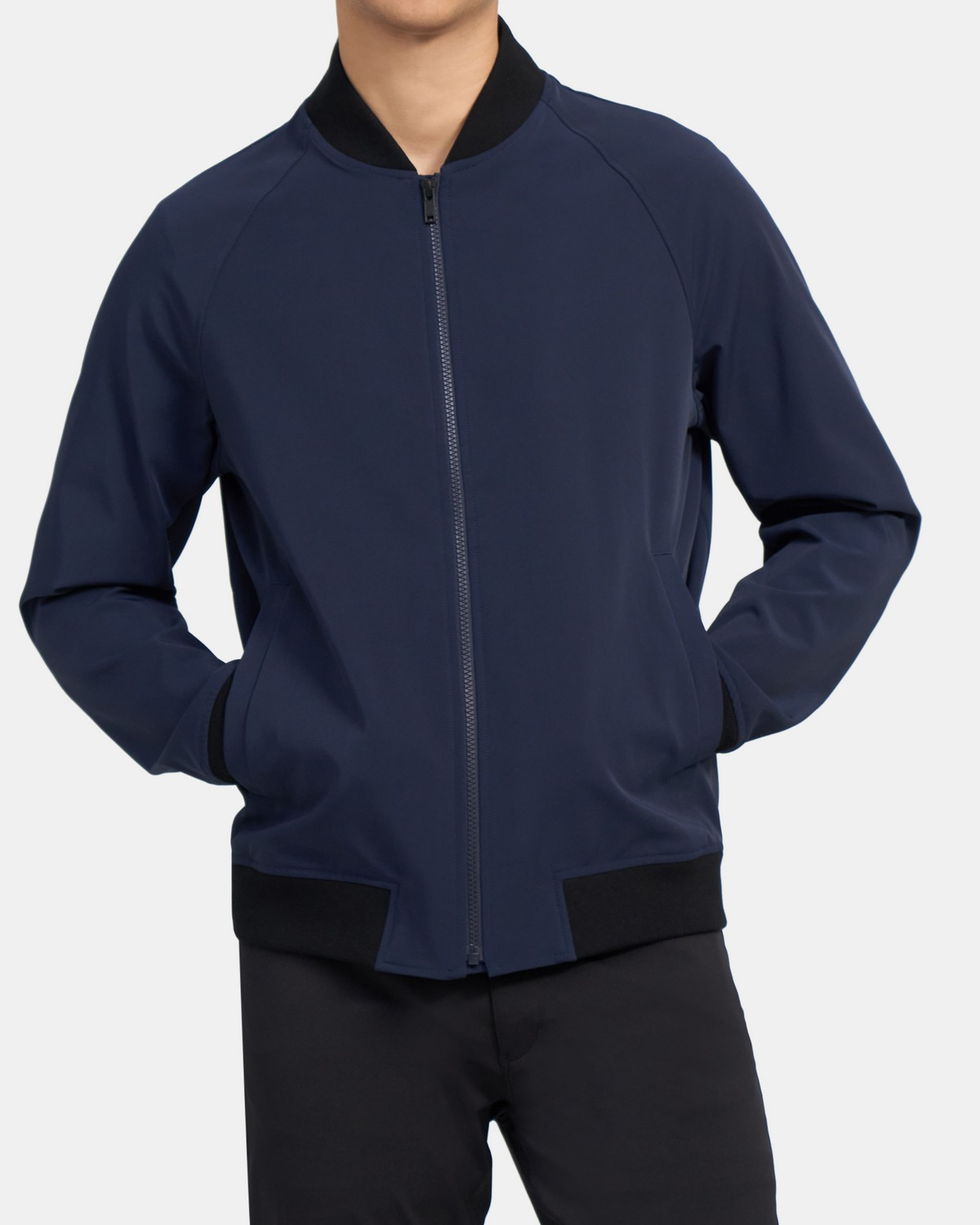 Bomber Jacket in Technical Stretch-Nylon