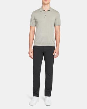 Basic Polo Shirt in Linen Blend