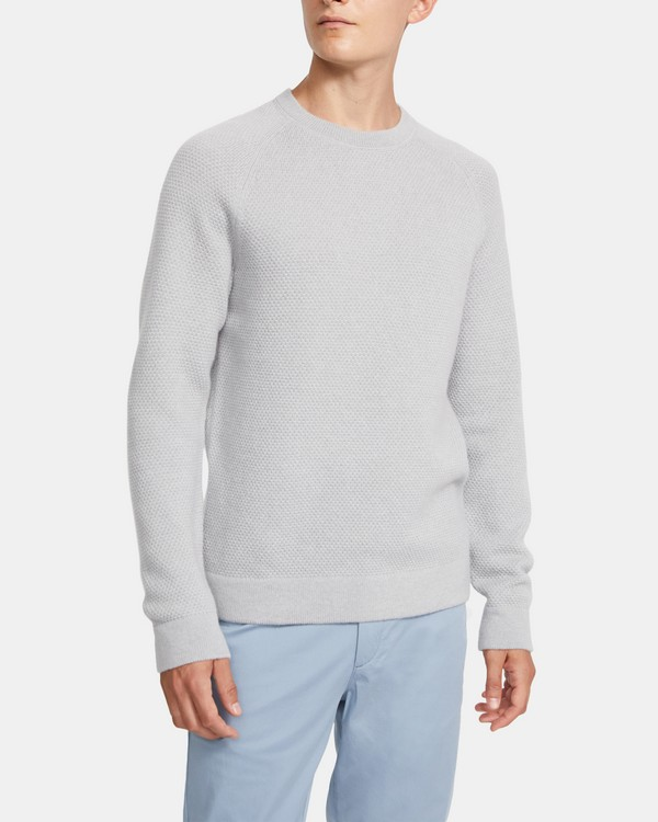 Long-Sleeve Crewneck in Cashmere