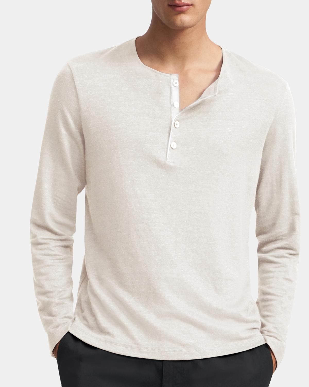 Henley Shirt in Flex Linen