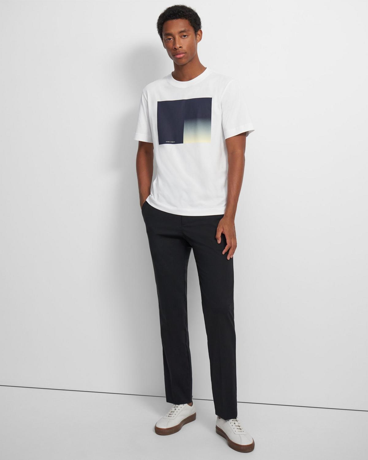 Casey Tee in Color-Blocked Jersey