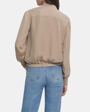 Bomber Jacket in Silk