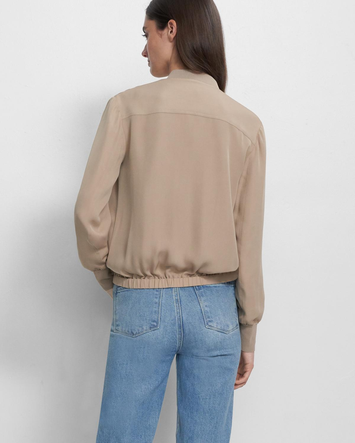 Bomber Jacket in Silk