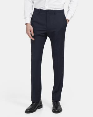 Slim-Fit Suit Pant in Grid Wool