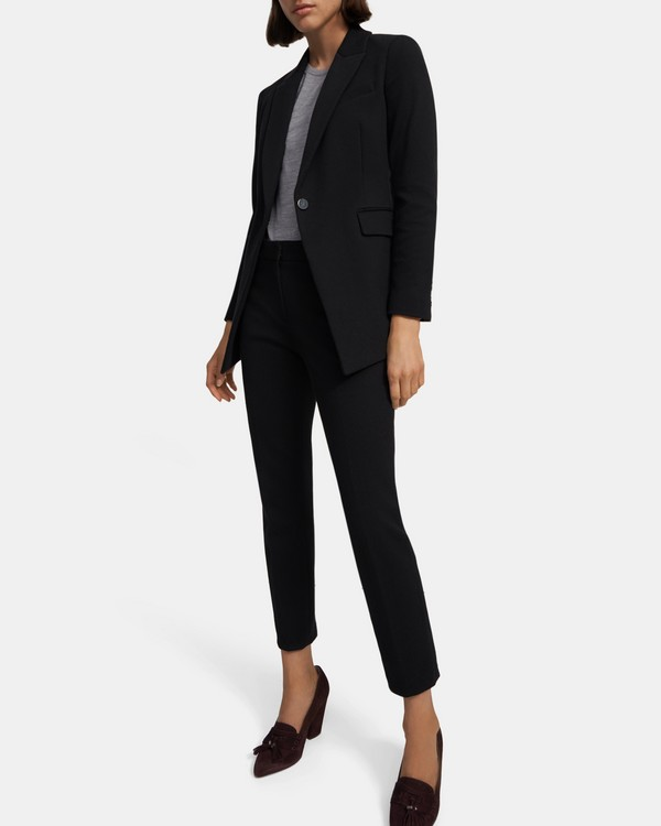 띠어리 Theory Etiennette Blazer in Knit Twill,BLACK