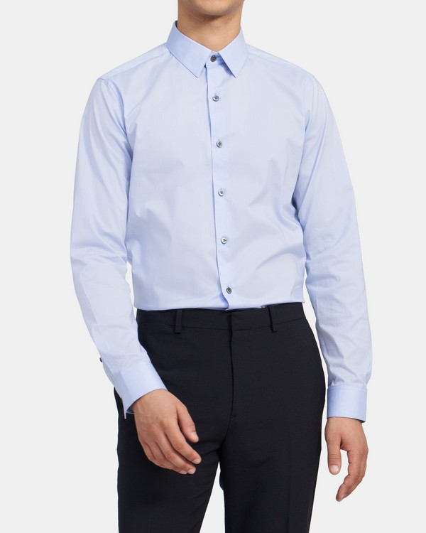 Tailored Long-Sleeve Shirt in Stretch Cotton