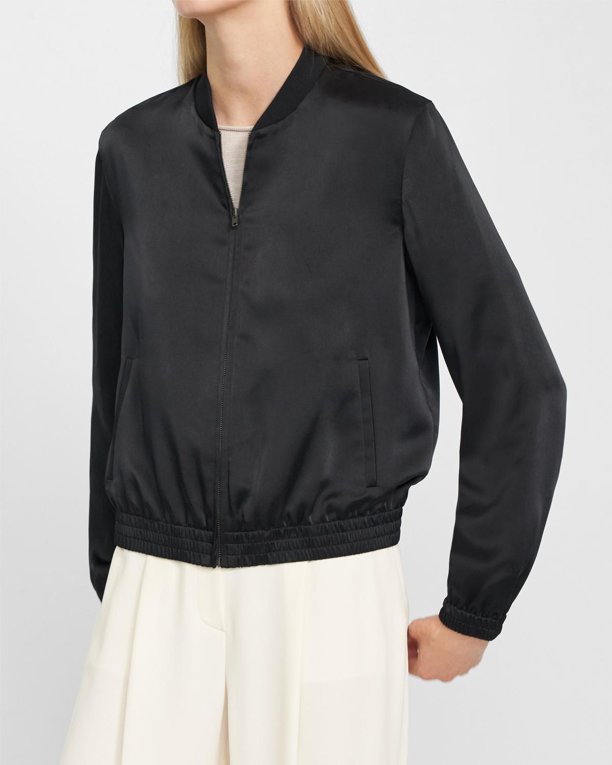 Bomber Jacket in Satin