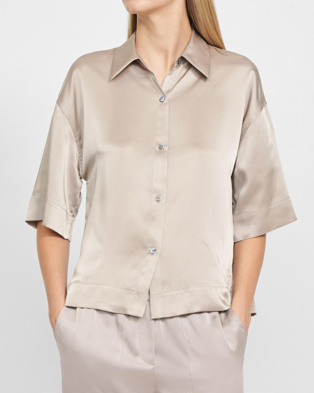 Easy Pajama Shirt in Satin