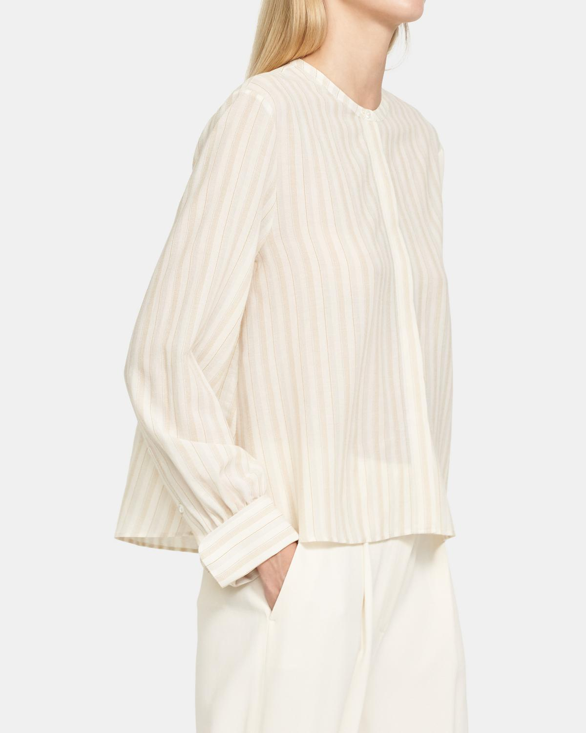 Easy Shirt in Corded Viscose-Cotton 0 - click to view larger image