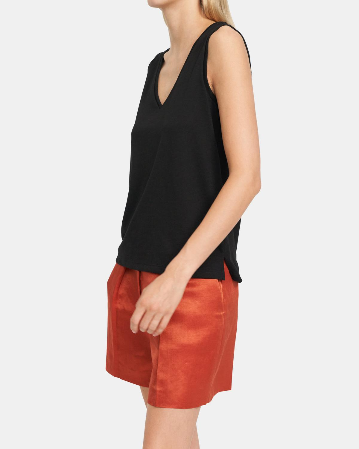 Tank In Stretch Modal-Cotton