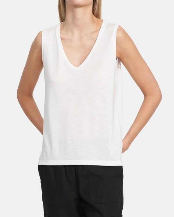 띠어리 스트레치 모달 코튼 탱크탑 Theory Tank In Stretch Modal-Cotton,WHITE