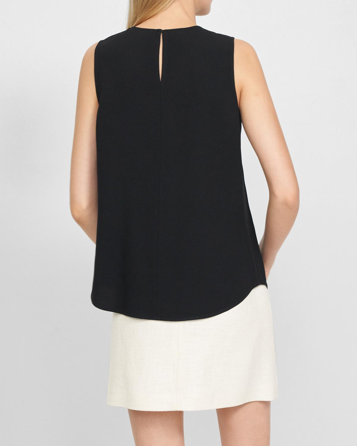 Shell Top in Rosina Crepe