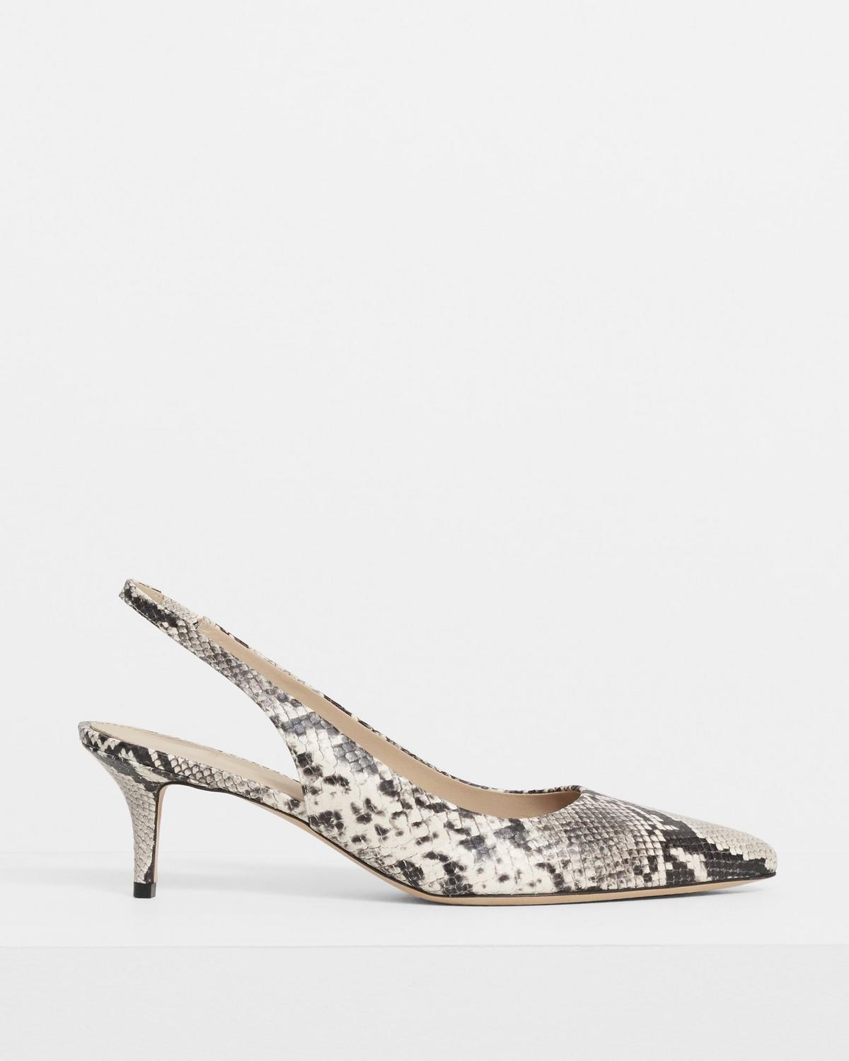 City 55 Slingback In Python Print Leather
