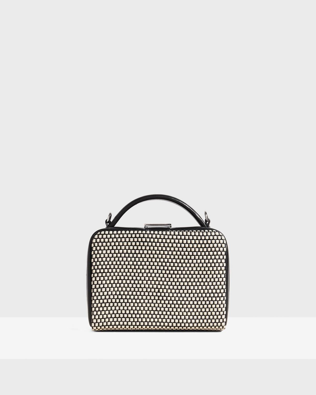 Cube Bag in Woven Cotton