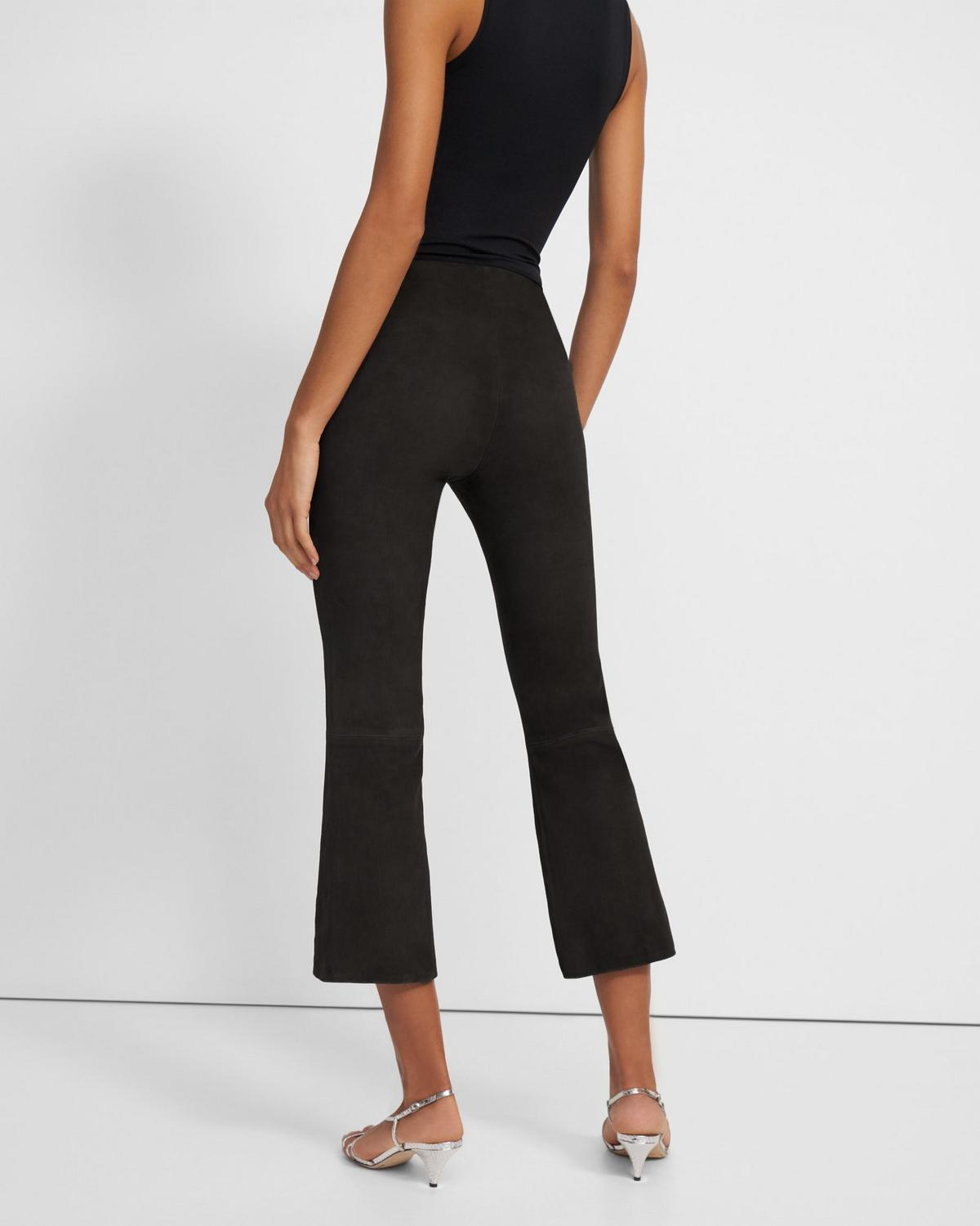 Pull-On Kick Pant in Stretch Suede