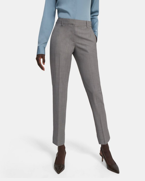 Treeca Pant in Geometric Good Wool