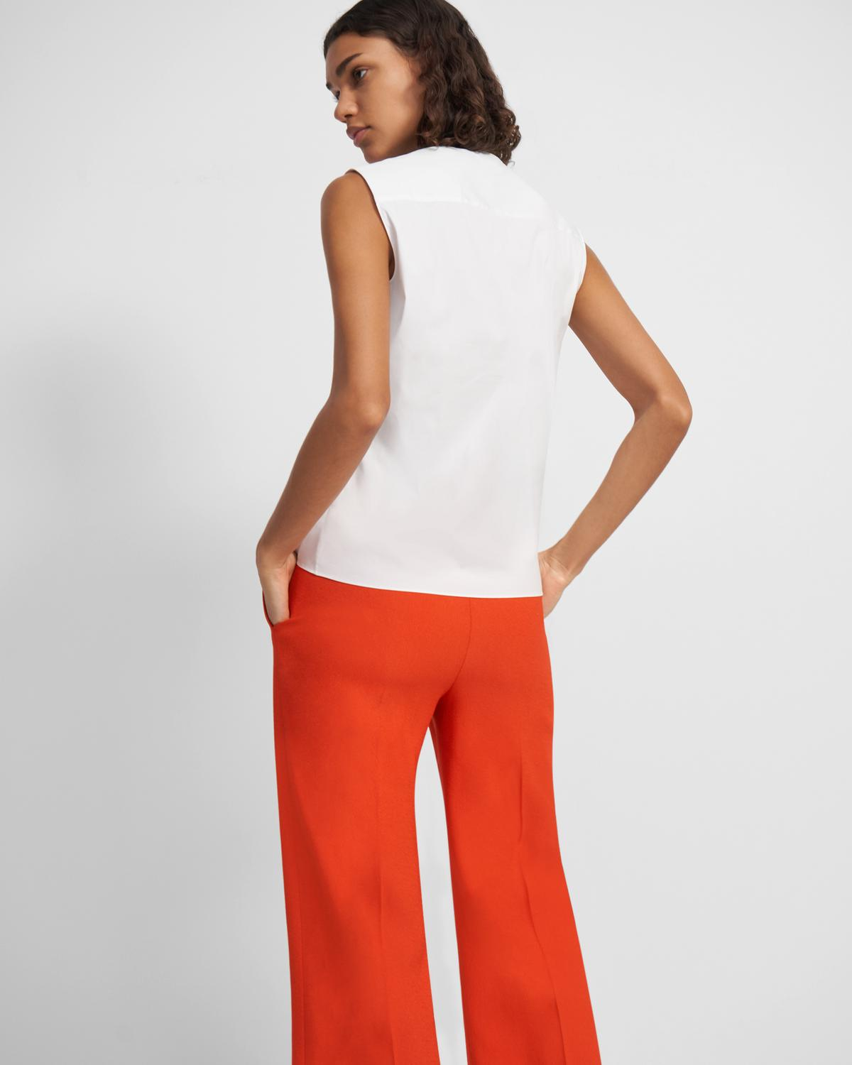 Tie Front Shell Top in Good Cotton