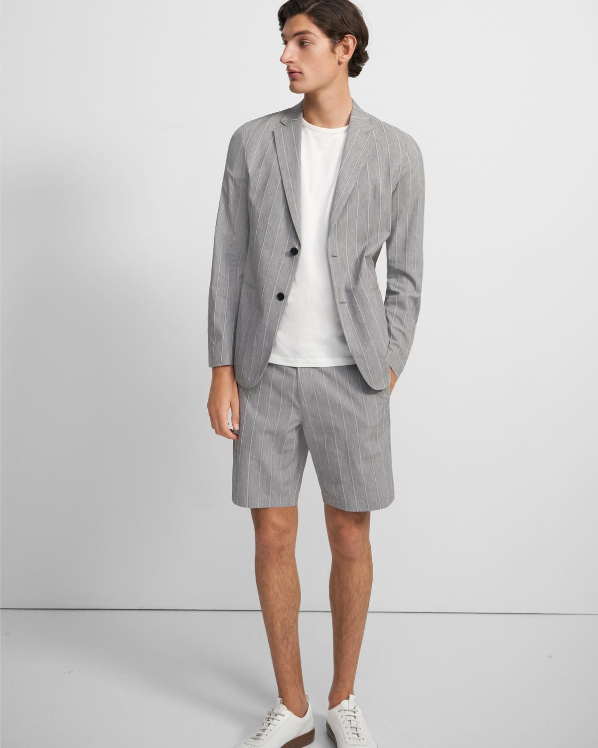 Clinton Blazer in Textured Cotton Blend