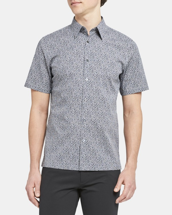 Standard-Fit Short-Sleeve Shirt In Cast Print