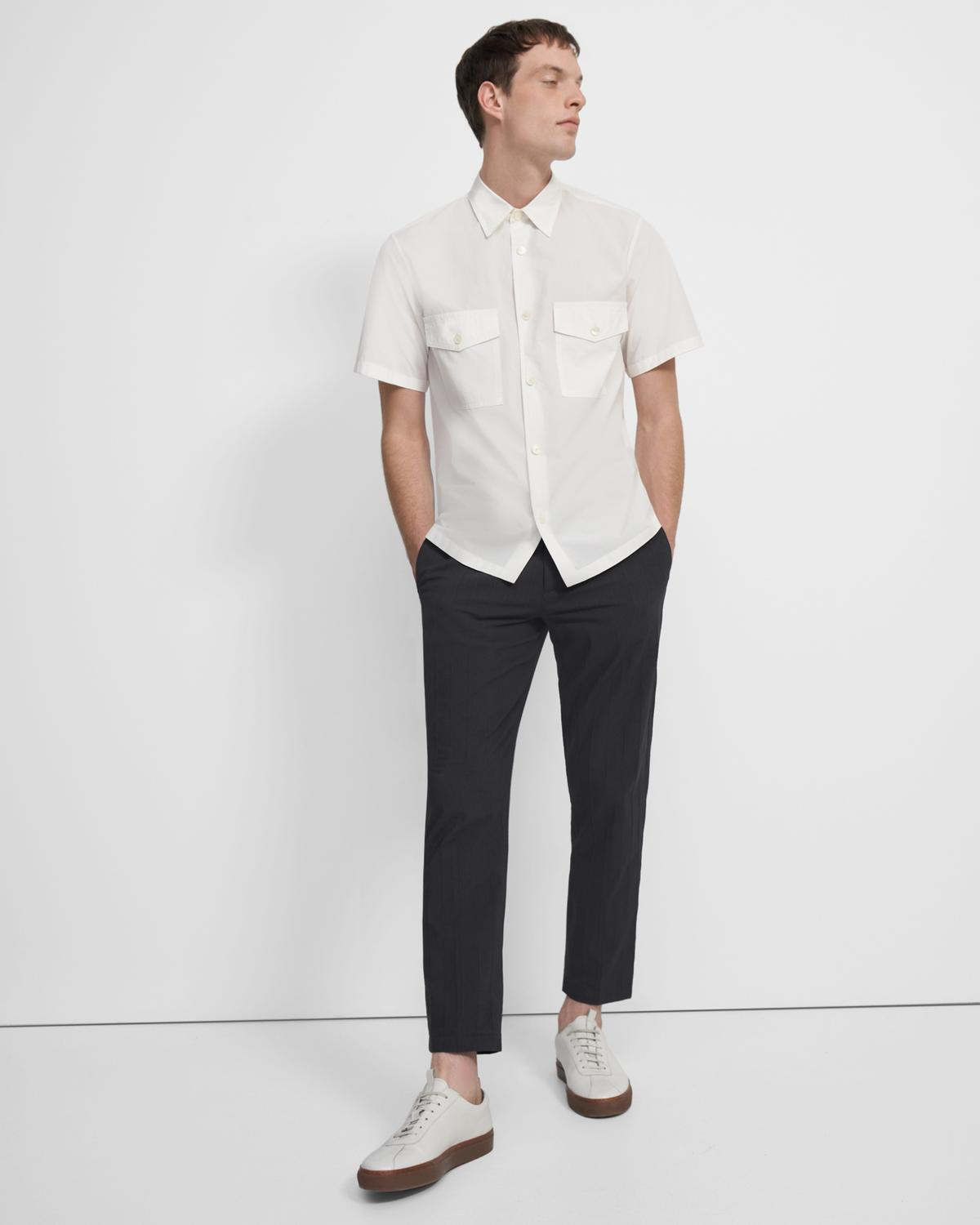 Patch Pocket Shirt in Garment Washed Cotton
