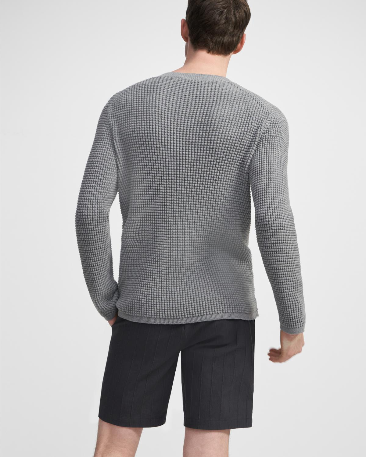 Crewneck Sweater in Textured Cotton