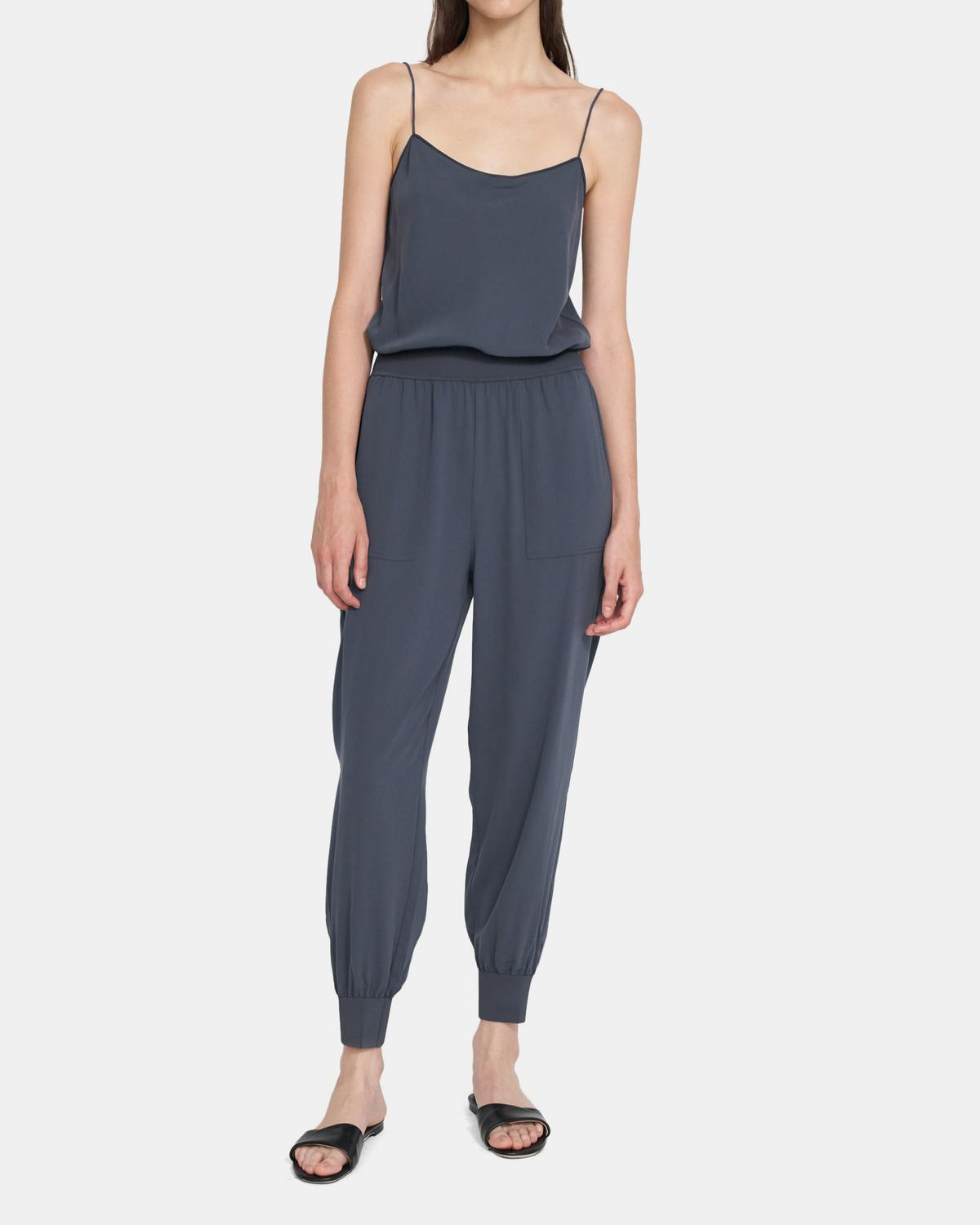 Tank Jumpsuit In Crepe