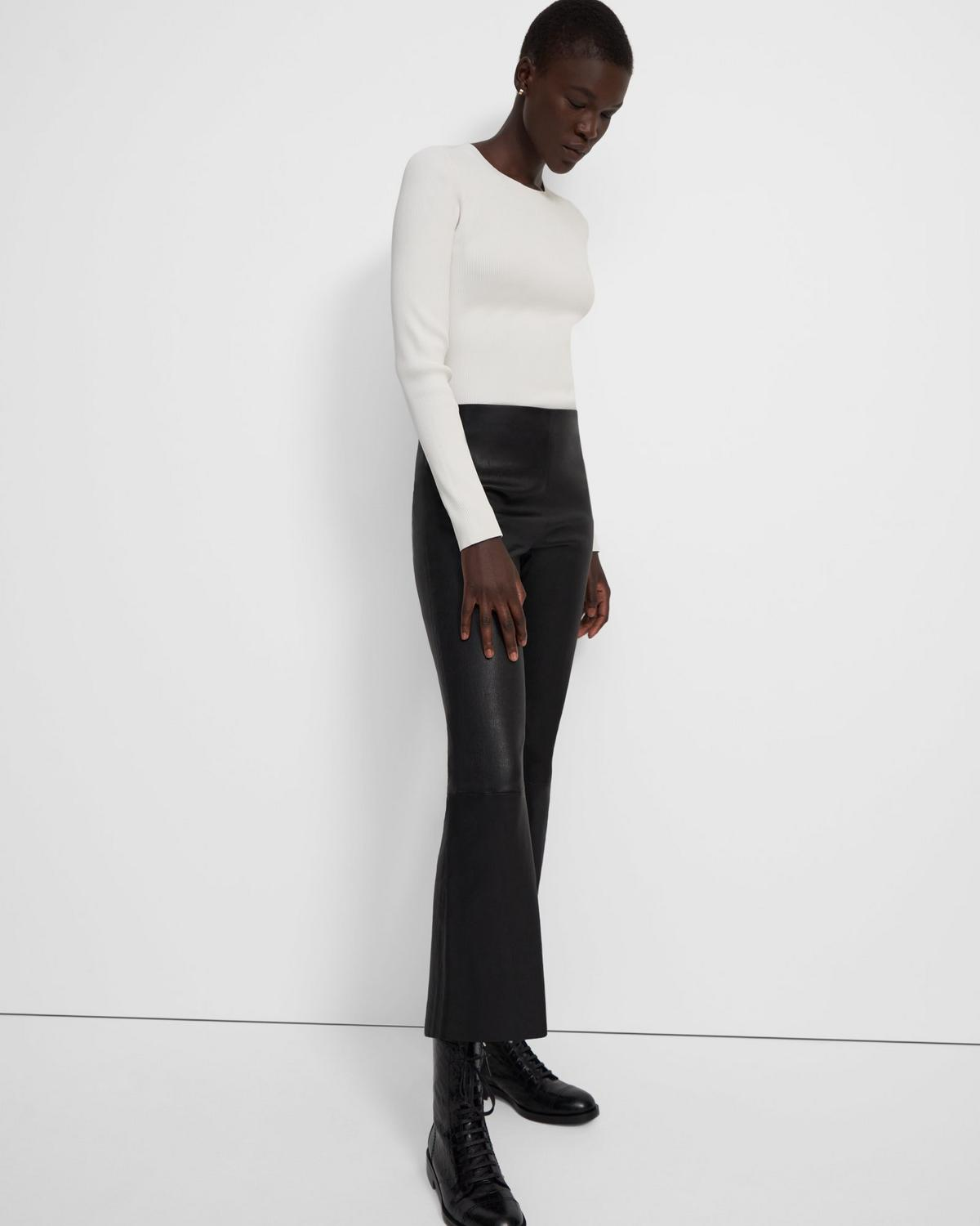 Pull-On Kick Pant in Leather