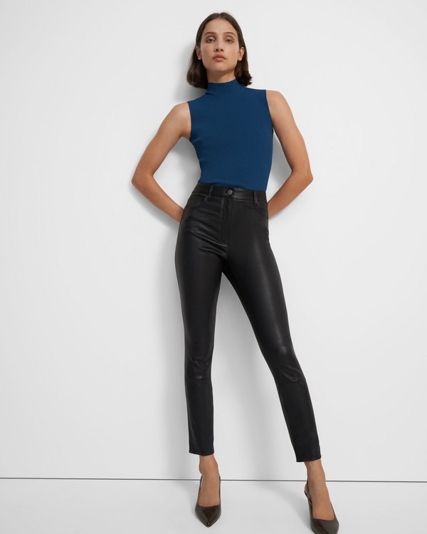 High Waisted Jean in Leather