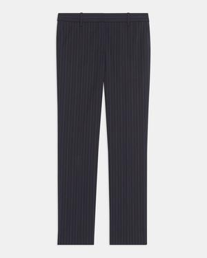Treeca Pant in Striped Good Wool