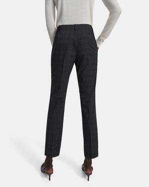 Treeca Full Length Pant in Plaid Good Wool