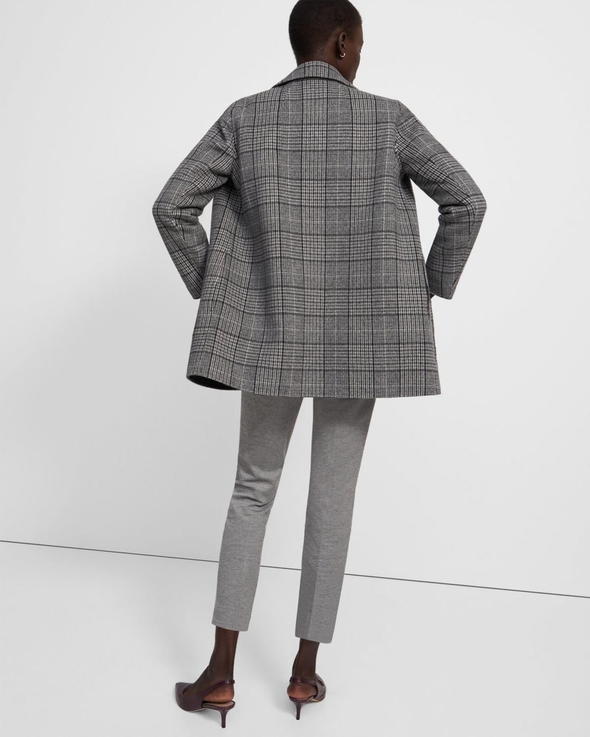 Clairene Jacket in Plaid Double-Face Wool-Cashmere