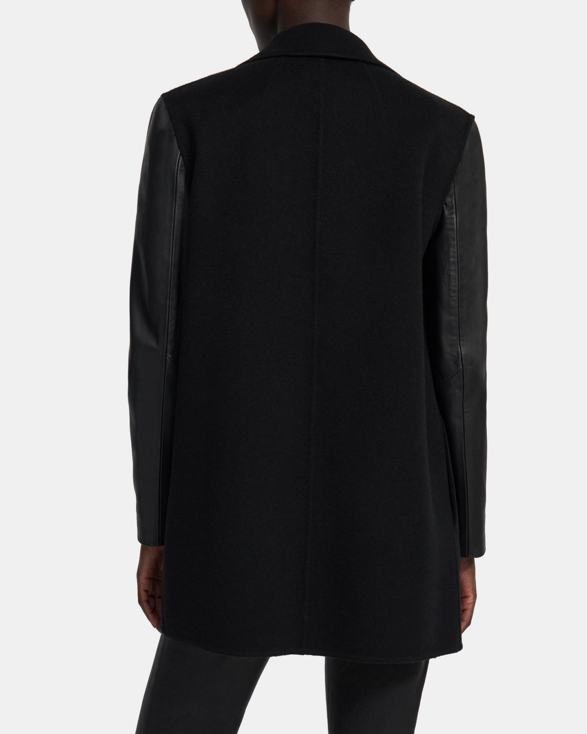 Clairene Jacket in Double-Face Wool-Cashmere Combo