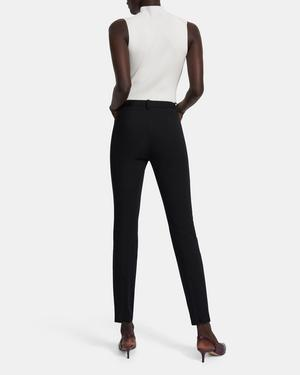Seamed Trouser in Bi-Stretch Cotton Twill