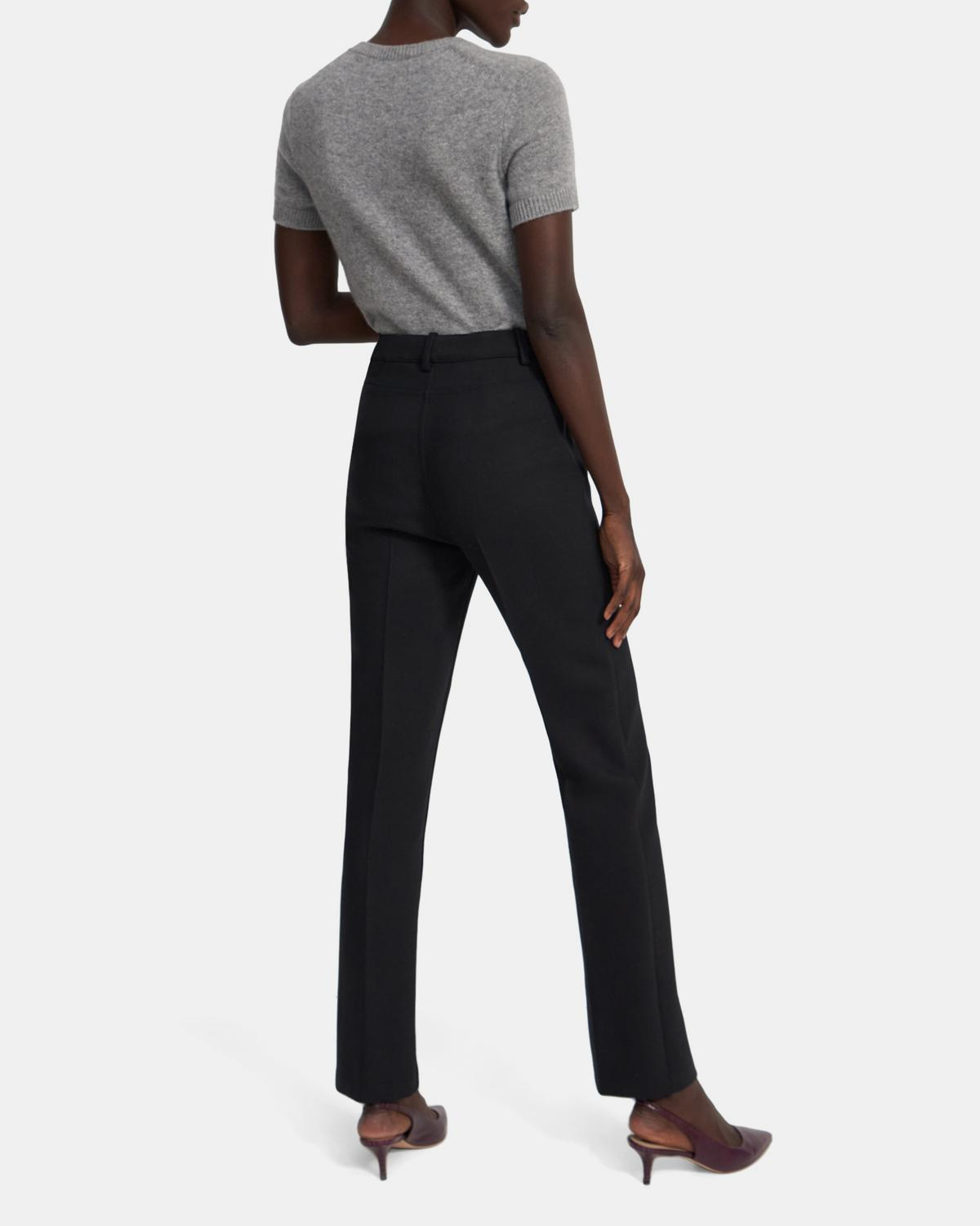 Straight Jean in Bi-Stretch Wool