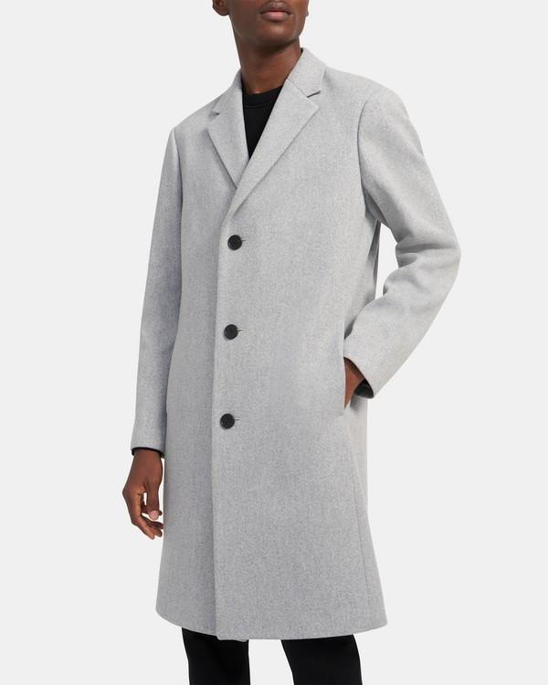 띠어리 맨 먼로 코트, 울 캐시미어 - 라이트 그레이 Theory Monroe Coat in Wool Twill