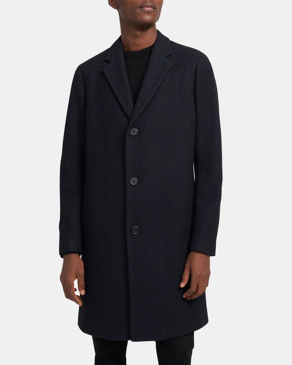 Suffolk Coat In Wool Dobby