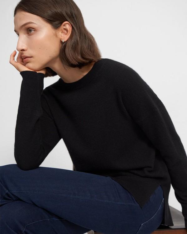 띠어리 Theory Karenia Sweater in Cashmere,BLACK