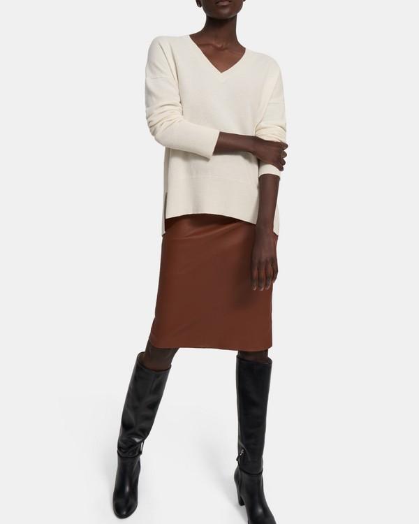 띠어리 Theory Karenia V-Neck Sweater in Cashmere,IVORY