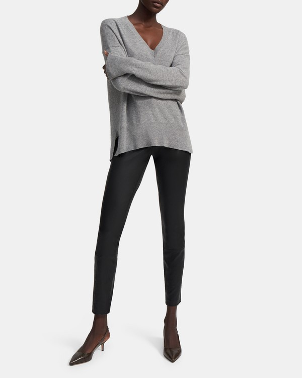 띠어리 Theory Karenia V-Neck Sweater in Cashmere,HUSKY