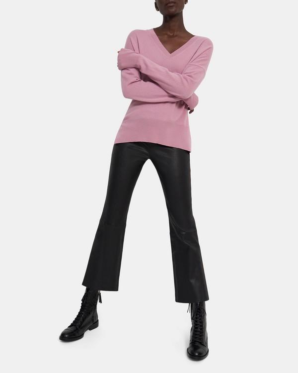 띠어리 Theory Karenia V-Neck Sweater in Cashmere,DUSTY PINK