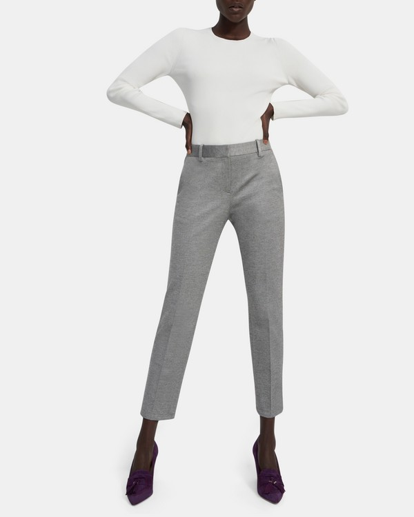 Treeca Pant in Mélange Twill