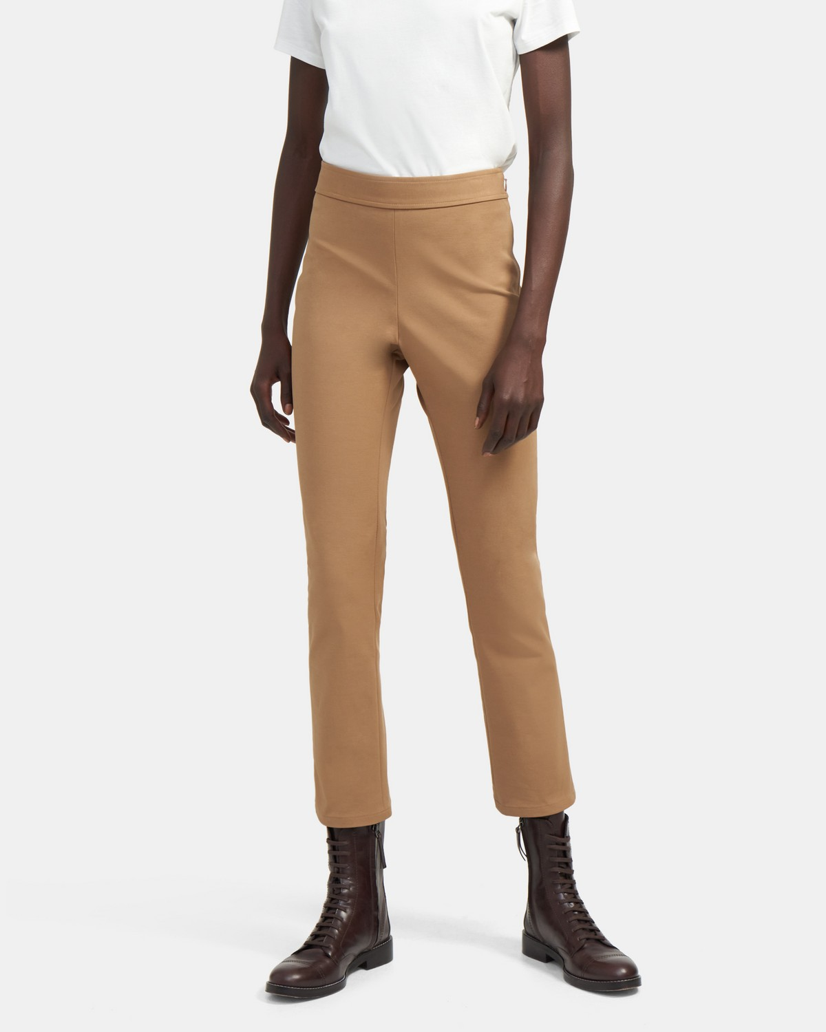 Slim Pull-On Pant in Stretch Cotton