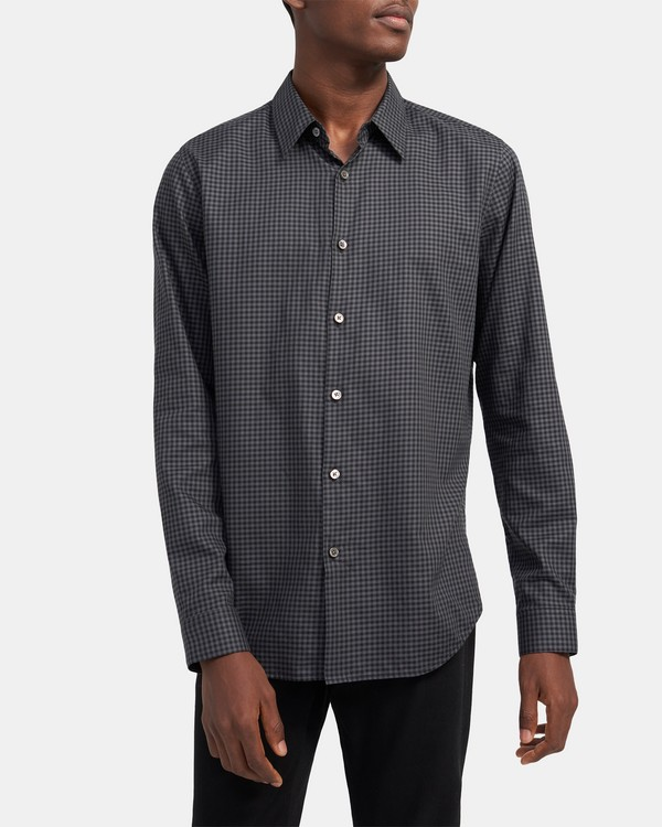 Standard-Fit Shirt in Flannel Gingham
