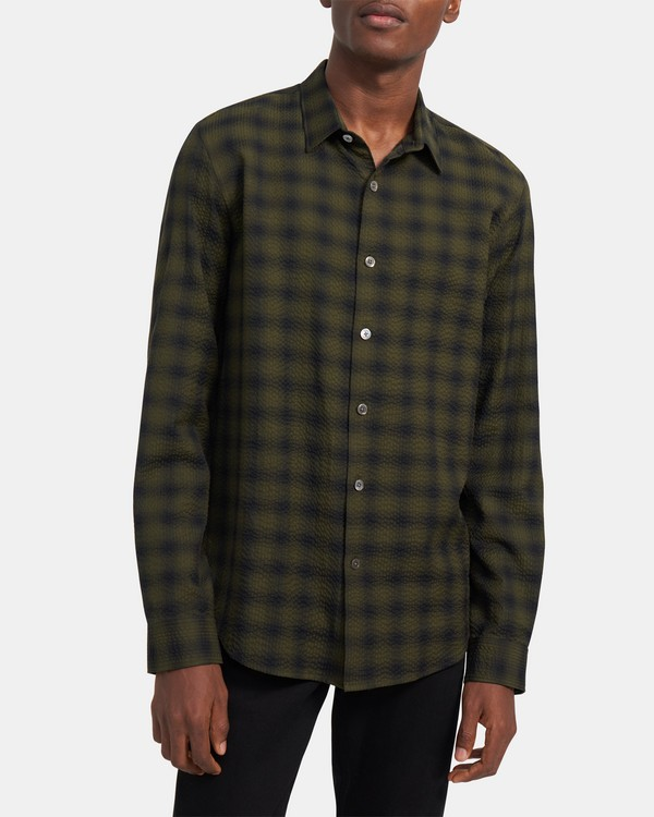 Rammy Shirt in Plaid Seersucker