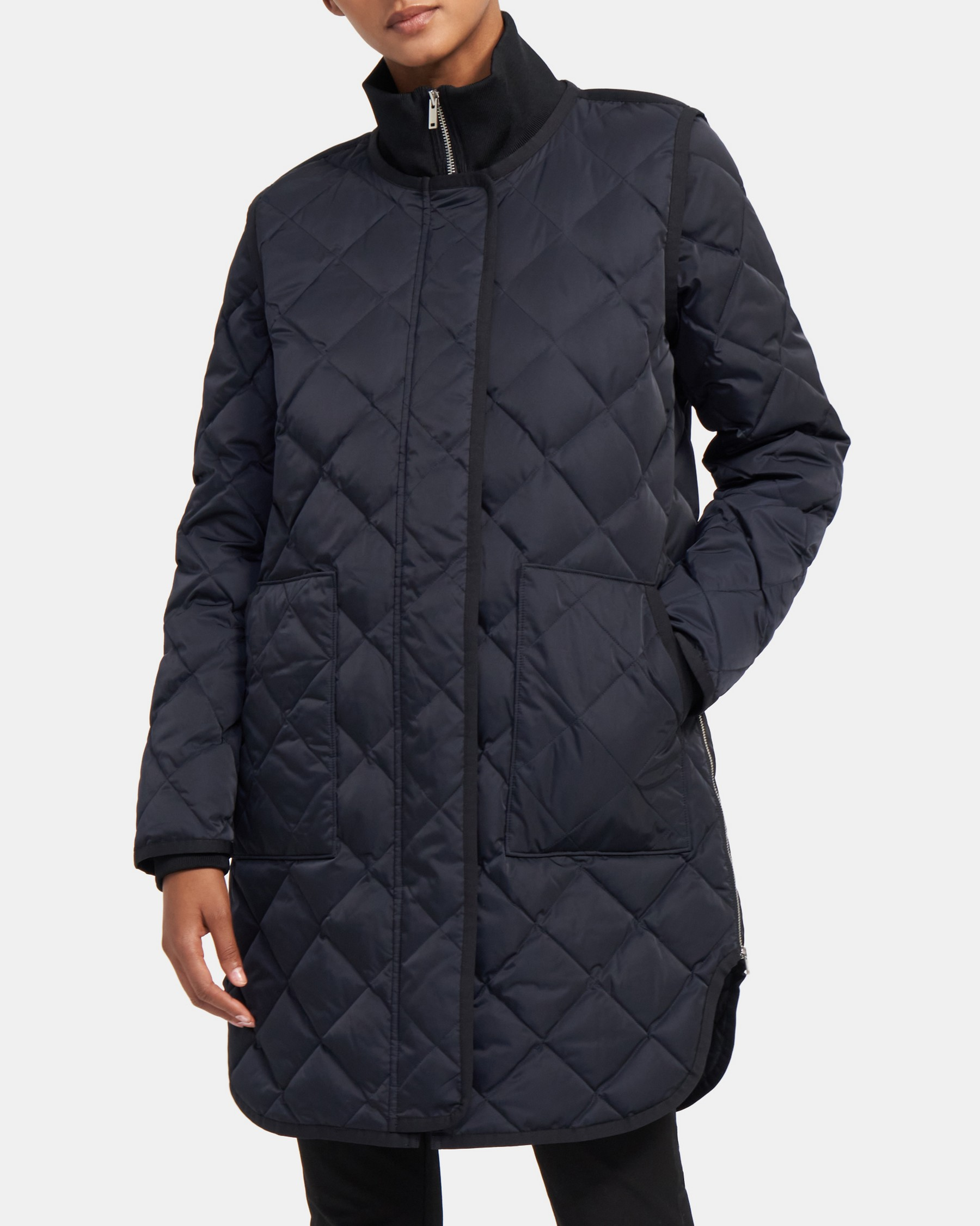 Theory Quilted Jacket in Taffeta